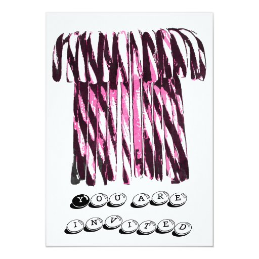 Pink Candy Canes Invitation 13 Cm X 18 Cm Invitation Card