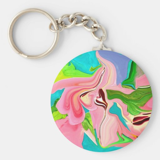 pink candy colored taffy pull key chain