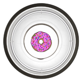 Pink Candy Donut Rainbow Colorful Sprinkles Art Bowl