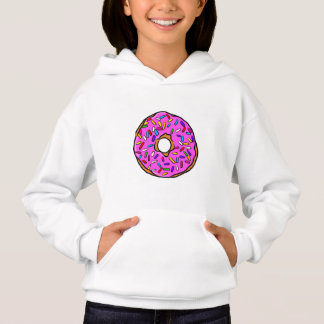 Pink Candy Donut Rainbow Colorful Sprinkles Art Hoodie