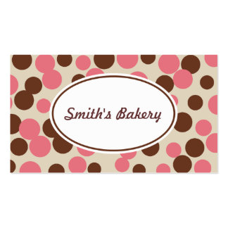 Pink Candy Dots Business Card