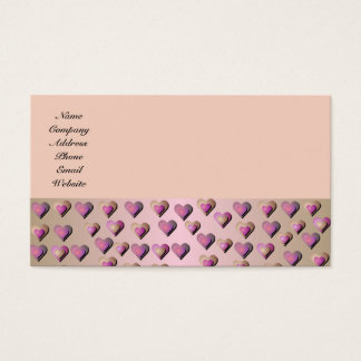 Pink Candy Hearts Business Card