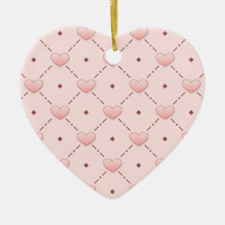 Pink candy hearts christmas ornament