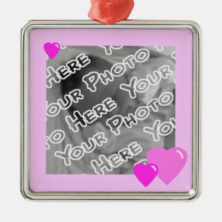 Pink Candy Hearts Ornament