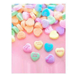 Pink Candy Hearts Print Letterhead