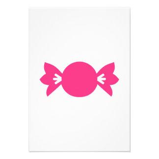 Pink candy invitation