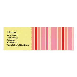 Pink Candy Striper Profile Cards Double-Sided Mini Business Cards (Pack Of 20)