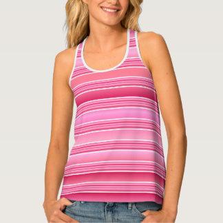 Pink Candy Stripes Tank Top