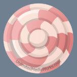 Pink Candy Swirl Classic Round Sticker