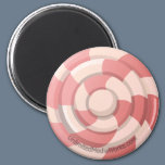 Pink Candy Swirl Magnet