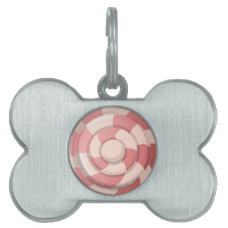 Pink Candy Swirl Pet ID Tag