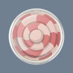 Pink Candy Swirl Pin