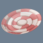 Pink Candy Swirl Porcelain Plate