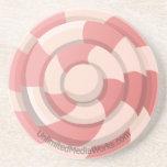 Pink Candy Swirl Sandstone Coaster