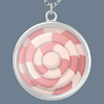 Pink Candy Swirl Silver Plated Necklace