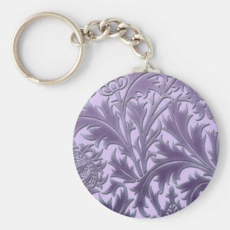 Pink Candy Thistle Keychain