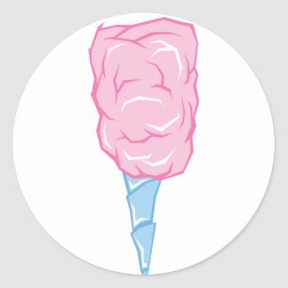 Pink Candyfloss Round Stickers