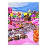 "Pink Candyland 5"" X 7"" Invitation Card"