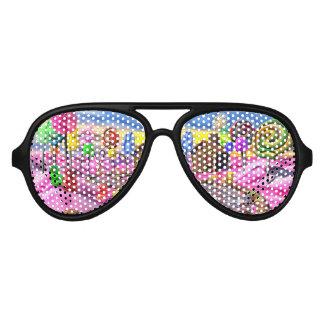 Pink Candyland Aviator Sunglasses