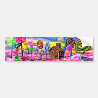 Pink Candyland Bumper Sticker