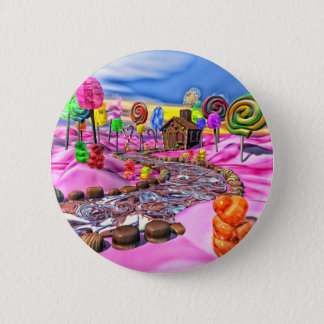 Pink Candyland Button
