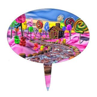 Pink Candyland Cake Topper