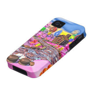 Pink Candyland Vibe iPhone 4 Covers