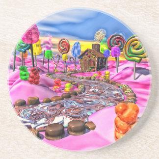 Pink Candyland Beverage Coaster