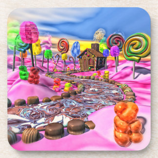 Pink Candyland Beverage Coasters