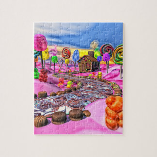 Pink Candyland Jigsaw Puzzle