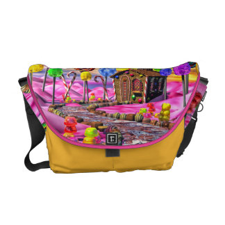 Pink Candyland Courier Bags