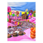Pink Candyland Personalized Announcement