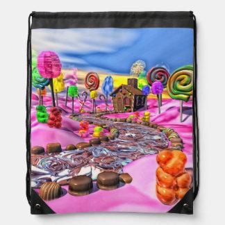 Pink Candyland Drawstring Backpacks