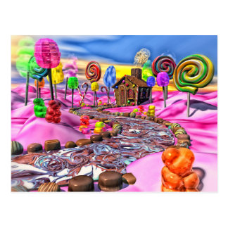 Pink Candyland Post Card
