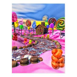 Pink Candyland Postcard