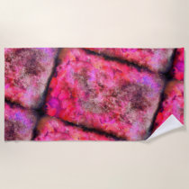 Pink Canvas Beach Towel