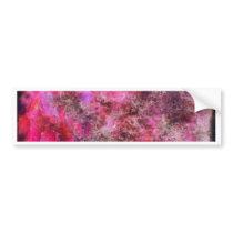 Pink Canvas Bumper Sticker