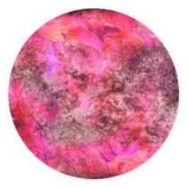 Pink Canvas Classic Round Sticker