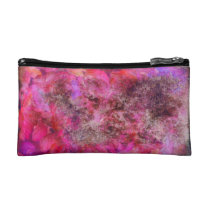 Pink Canvas Cosmetic Bag