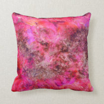 Pink Canvas Throw Pillow