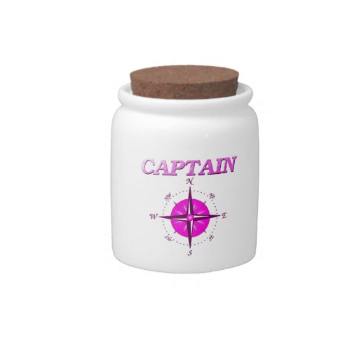Pink Captain And Compass Rose Candy Dishes