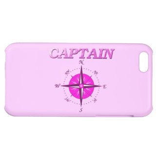 Pink Captain And Compass Rose iPhone 5C Case
