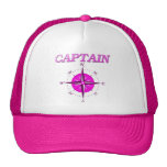 Pink Captain And Compass Rose Trucker Hat