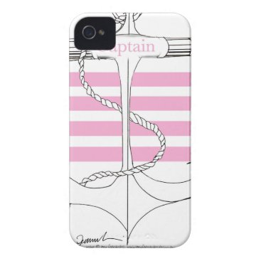 Beach Themed pink captain, tony fernandes Case-Mate iPhone 4 case
