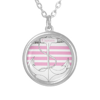 pink captain, tony fernandes silver plated necklace