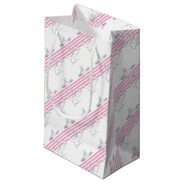 Beach Themed pink captain, tony fernandes small gift bag