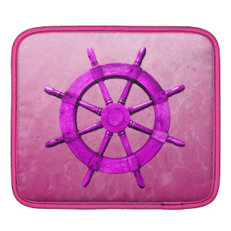 Pink Captain Wheel Sleeves For iPads