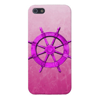Pink Captain Wheel Cases For iPhone 5
