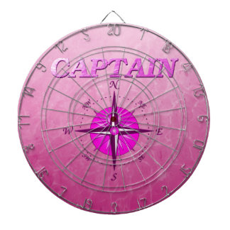Pink Captain with Compass Rose Dart Board