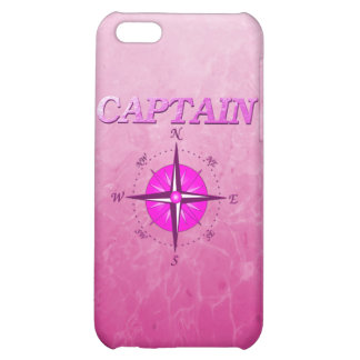Pink Captain with Compass Rose iPhone 5C Cases